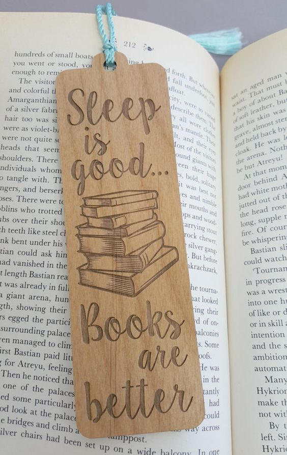 Perfect Bookmarks Laser engraving photo