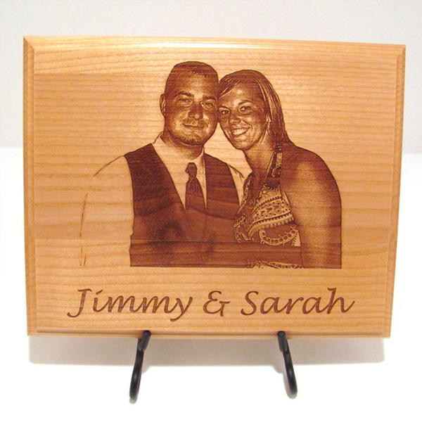 Photo Custom Laser Engraved Wood Plaque boomlasers.com