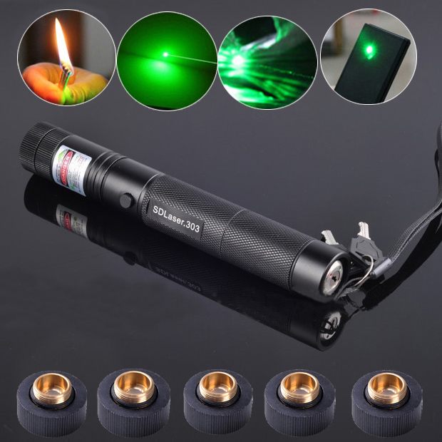 Cheap Laser 303 100mW Green Lazer Pointer 5 in 1 Burn Match