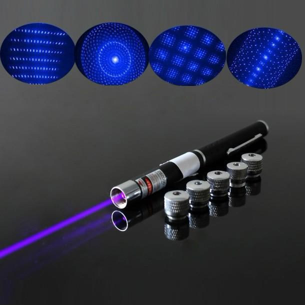 5 in 1 405nm 50mW Purple Lazer Pointer Pen For Sale