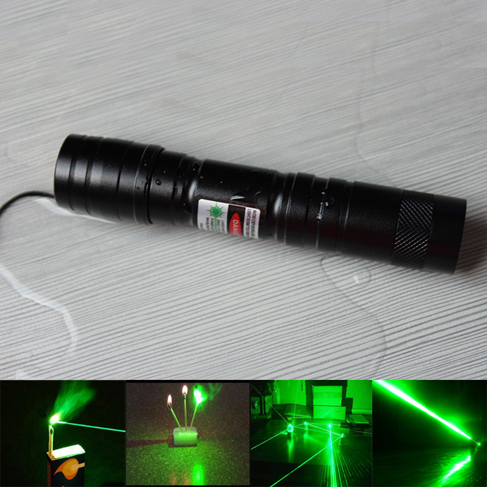 Mini Flashlight 100mW Green Laser Pointer Burning Match For Sale