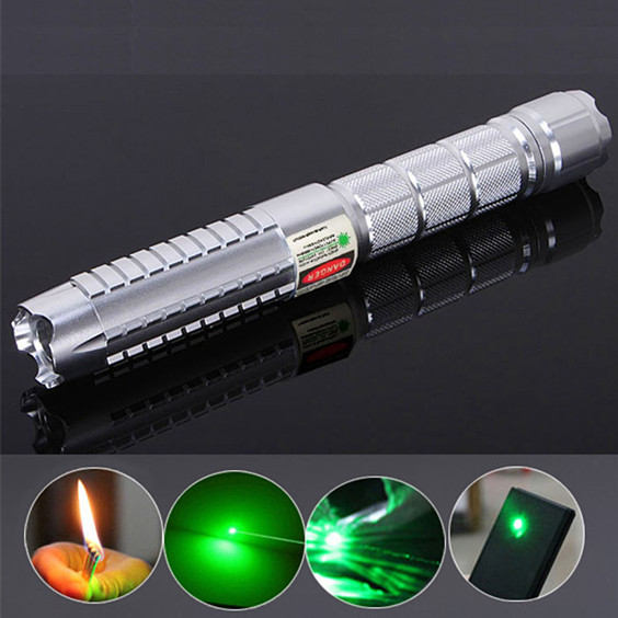 100mW Green Lazer Pointers Compact Flashlight Burn Match Class IIIB For Sale