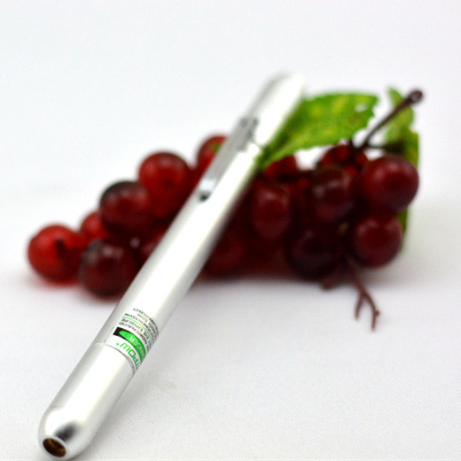 200mW 650nm Red beam Laser Pointer Silver Pen Style