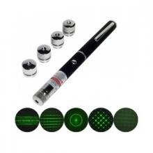 30mW Green Beam Laser Pointers with 5 Laser Caps Class 3