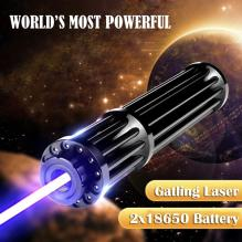 3000mW 450nm Blue Laser Pointer Powerful Gatling Plus