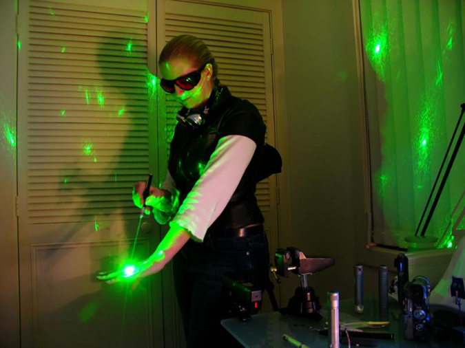 green laser pointer presentation